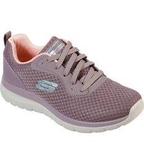 tenis lifestyle skechers mesh lace up - purpura