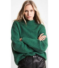 mk pullover in misto lana - muschio (verde) - michael kors