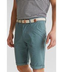 shorts con cinturón en algodón ecológico verde esprit