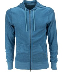 majestic filatures hooded sweatshirt in cotton and modal