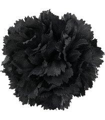 brioni floral brooch - grey