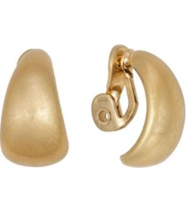 the sak gold-tone button clip earrings