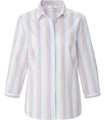 blouse 100% katoen 3/4-mouwen van peter hahn wit