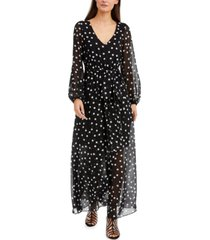inc polka-dot belted maxi dress, created for macy's