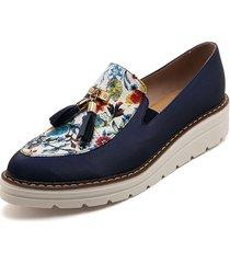 zapato cintya azul flores