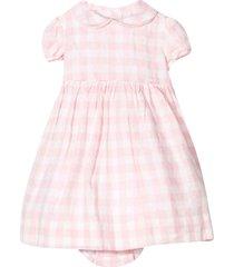 ralph lauren squared linen dress