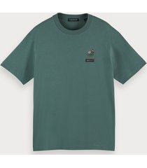 scotch & soda 100% cotton lunar t-shirt