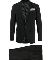 dsquared2 flame pocket square suit - black