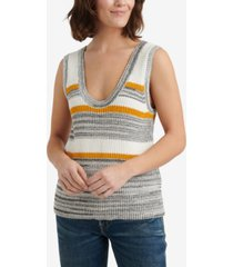 lucky brand striped sweater tank top
