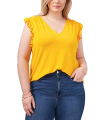 1.state trendy plus size ruffled top