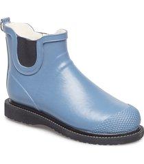 rain boot short regnstövlar skor blå ilse jacobsen