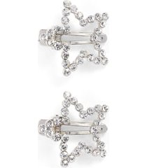 tasha 'twinkle' star hair clips in silver at nordstrom
