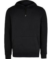 river island mens black slim fit basic hoodie