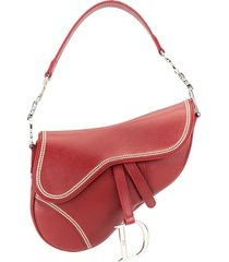 christian dior pre-owned saddle shoulder bag - red