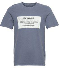 new natal label patch t-shirt man t-shirts short-sleeved blå ecoalf