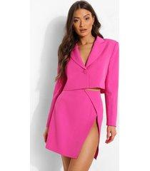 mix & match gekleurde korte blazer, bright pink