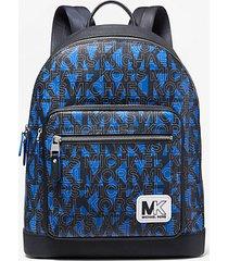 mk zaino hudson con logo - blu (blu) - michael kors