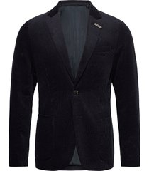 single-breasted half-lined soft corduroy blazer blazer colbert blauw scotch & soda