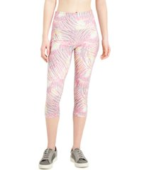 ideology tropical-print pocket cropped leggings, created for macy's