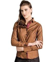 camisa slim quadriculada carlos brusman feminina
