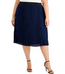 adrianna papell plus size shimmer skirt