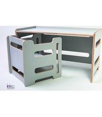 zestaw mash stolik i krzesełko dla dzieci szary