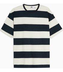 mens black block stripe t-shirt