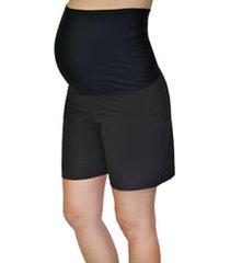 mermaid maternity foldover maternity board shorts, size small in black at nordstrom