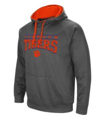 colosseum clemson tigers men's poly performance hooded sweatshirt