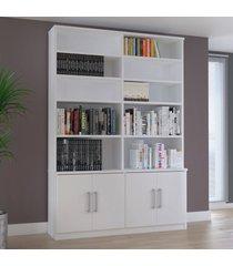 estante de livros foscarini 1883 4 portas branco