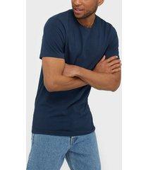 bread & boxers m's crew-neck t-shirts & linnen blue