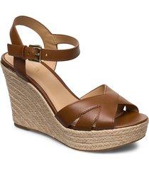 suzette wedge sandalette med klack espadrilles brun michael kors shoes