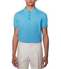 boss men's ipaolo turquoise polo shirt