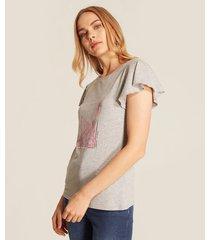 camiseta manga corta estampado