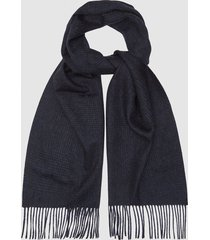 reiss rowe - wool cashmere blend scarf in navy, mens