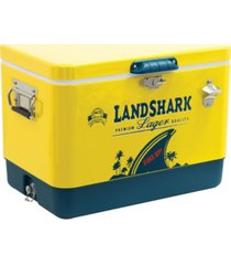 margaritaville landshark steel cooler with bottle cap opener - 54 quart