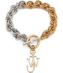 jw anderson multi-links two-tone bracelet - gold