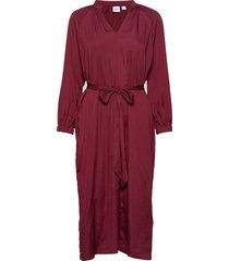 split-neck midi dress knälång klänning röd gap