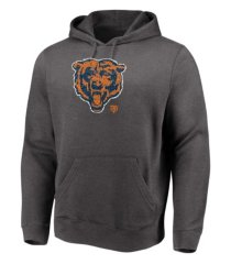 majestic chicago bears men's distressed logo hoodie