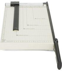 mind reader adjustable metal paper trimmer, capacity 10 pages, black