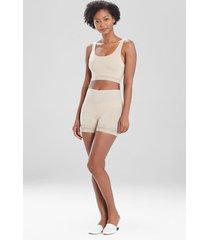 natori bliss perfection lace trim shorts bodysuit, women's, size l natori