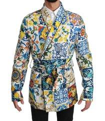 majolica brocade linnen robe jas jacket