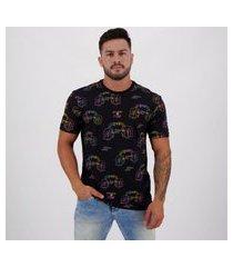 camiseta volcom especial alienated preta