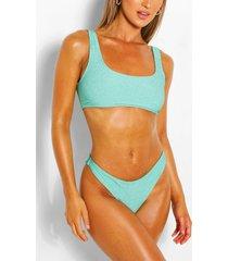 mix & match glitter high leg bikini brief, aqua