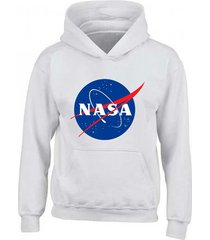 buzo estampado nasa space con capota saco hoodies