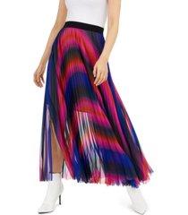 escada sport ombre pleated maxi skirt