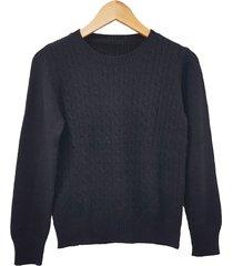 sweater negro mecano classic