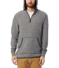 alternative apparel men's eco-teddy outdoor quarter-zip fleece hoodie