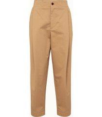 barena pantalone vittori in gabardina beige