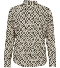 over d boxy fit cotton viscose shirt in various prints blouse lange mouwen multi/patroon scotch & soda